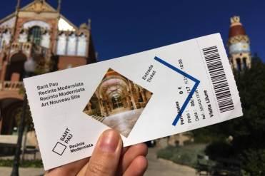 Kaartje voor Sant Pau