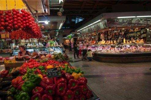 paprikas op Santa Catarina markt