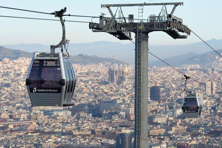 kabelbaan Montjuic Barcelona