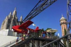 het vliegtuigje op tibidabo