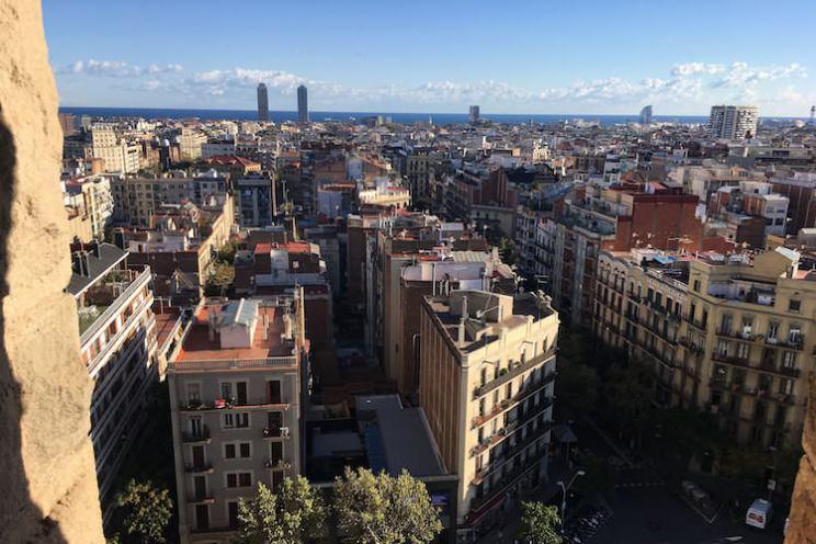 uitzicht vanaf de torens van de sagrada familiia