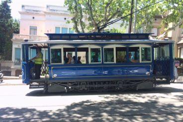 blauwe tram tibidabo