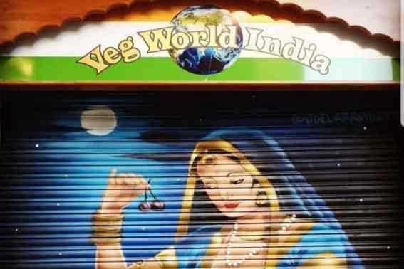 Geschilderde luiken veg World India