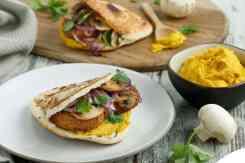Pita broodje met humus Vegetalia