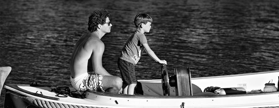 barca padre figlio