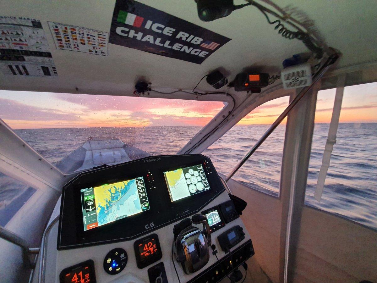 Sergio Davì in navigazione dopo aver lasciato Halifax
