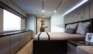 Cabina armatoriale  di un catamarano, disposta su singolo