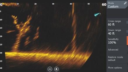 La funzionalità LiveSight offre agli utenti la capacità di rilevare i movimenti dell'esca e dei pesci in tempo reale.