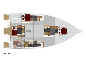 Leen 56 trimarano cabine