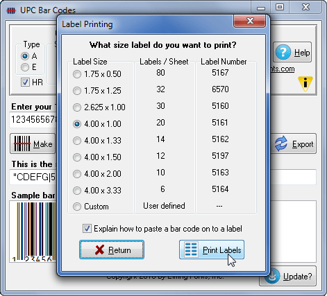 Print Bar Code Labels Using Your Word Processor A Barcode