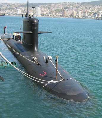Submarinos de guerra chilenos