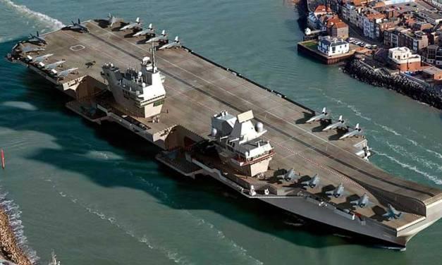 Portaaviones británico HMS Queen Elizabeth