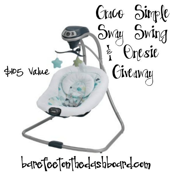 Graco Simple Sway Swing and Onesie Giveaway $105 Value Ends 317