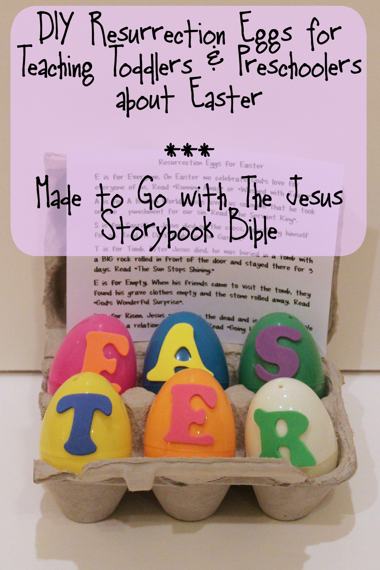 Diy Resurrection Eggs For Toddlers And Preschool Kids