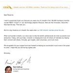 click the thumbnail to read the full letter from Reid Hoffman of LinkedIn