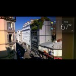 Google Glass reporting Paris weather, view from our room