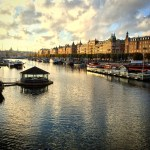 Golden hour, Stockholm waterfront