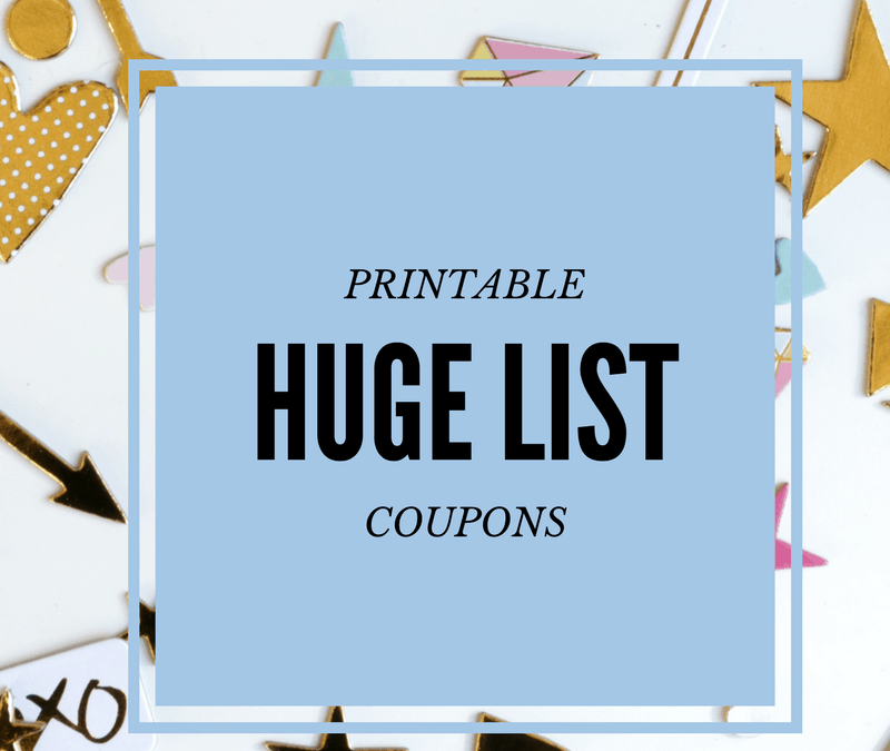 Coupons Re-Set in Three, Two… Get em NOW!  Re-Designed 'HUGE' List