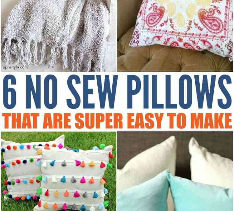 6 Easy DIY Homemade Pillow Covers you can make Today