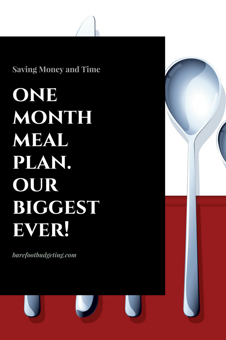One Month Meal Plan, New Budget Goals!