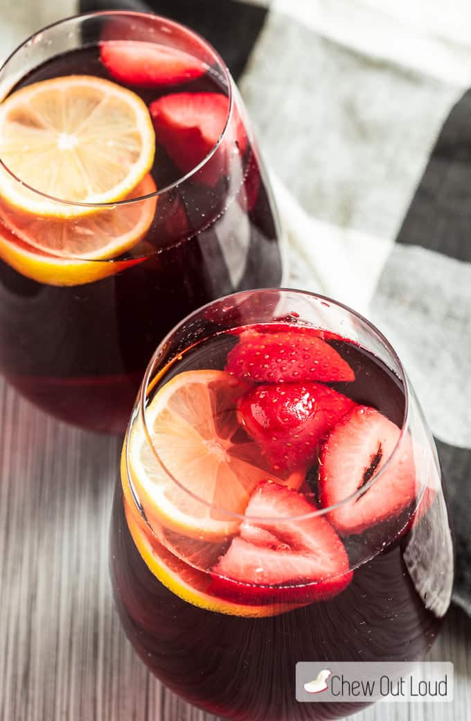 berry punch with champagne