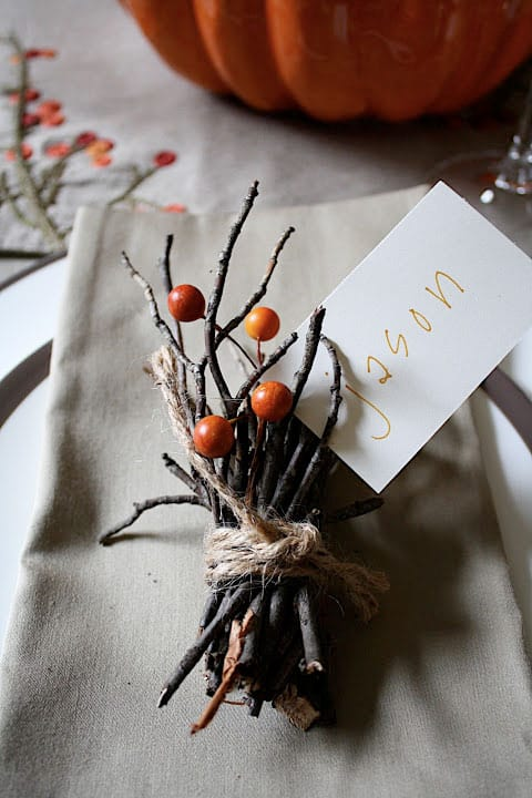 diy table setting cards