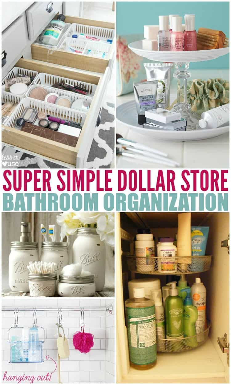 Bathroom organization dollar store hacks barefoot budgeting for Dollar store items online