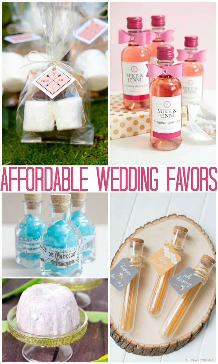 budget friendly wedding favors