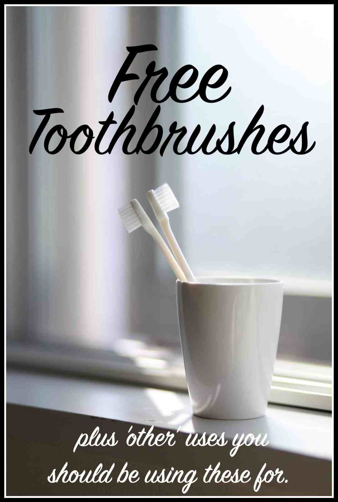 uses for toothbrush