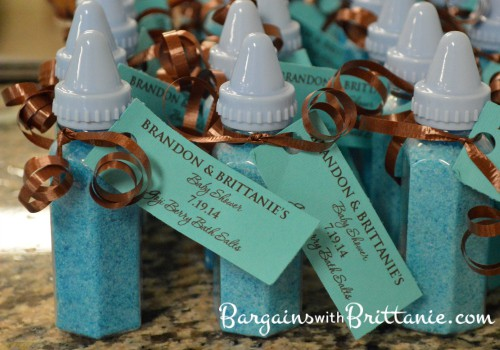 bottle shower favors