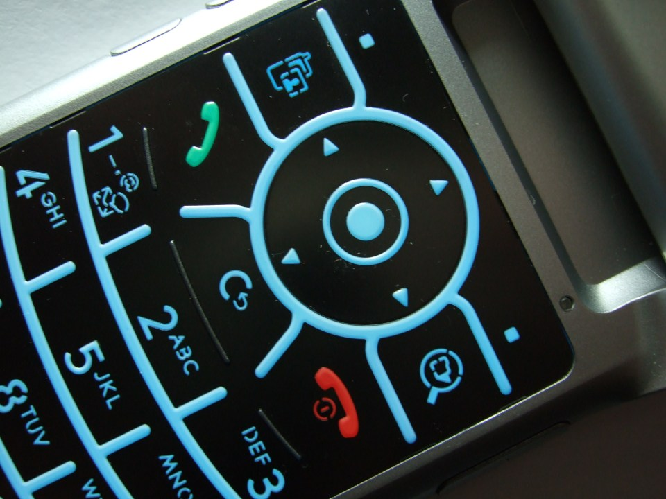 Photograph of a Motorola Cell Phone Keypad