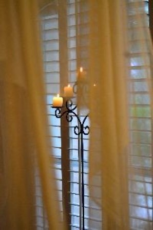 draped fabric and candles_small