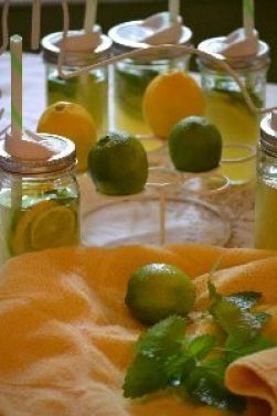 add some herbs with some slices of lemons and limes_small