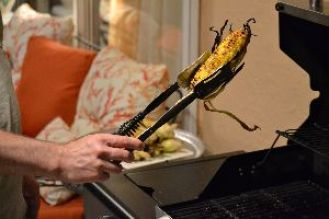 taking the corn off the grill_small
