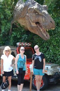Julie Veronica and Kelcy Dinosaur_small