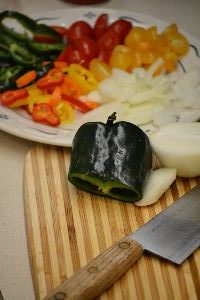 chopped veggies for cornbread_small