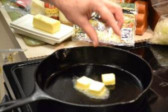 7 put some butter into your cast iron skillet_small
