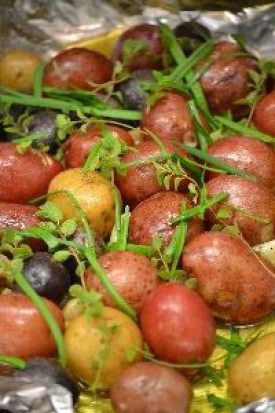 potatoes and herbs with butter and garlic and oil_small