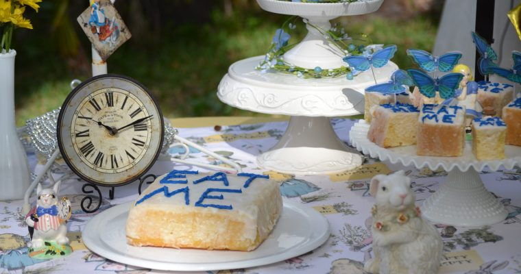 "Our Alice In Wonderland ""Eat Me"" Cakes"