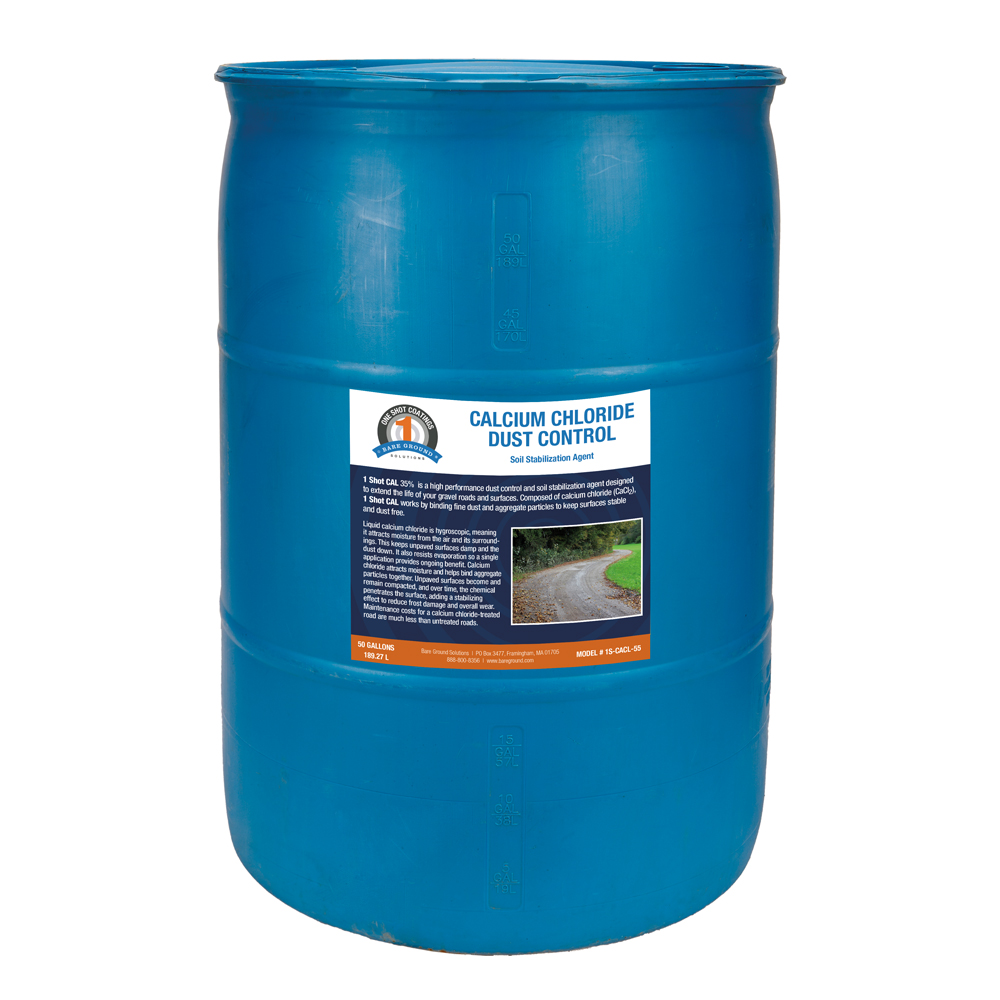 One Shot Calcium Chloride Dust Control - 55 Gallons