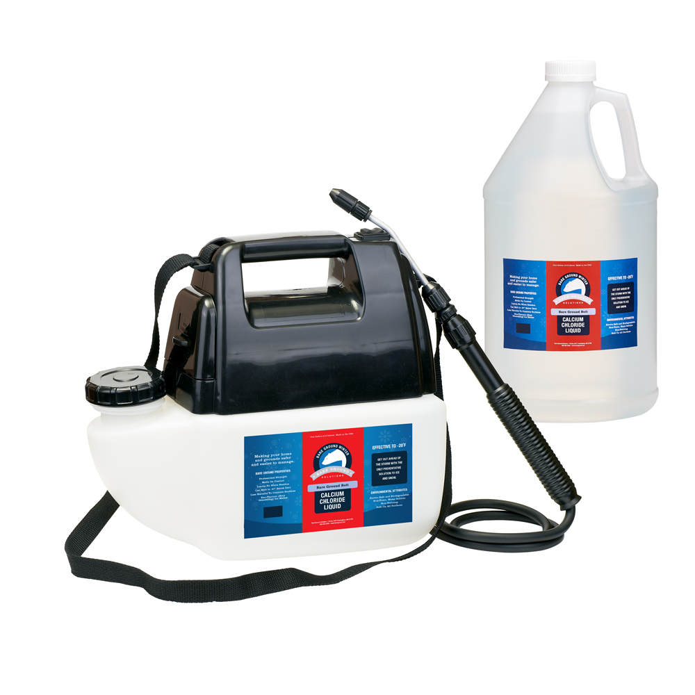 Bare Ground Bolt Liquid Calcium Chloride with Battery Powered Sprayer