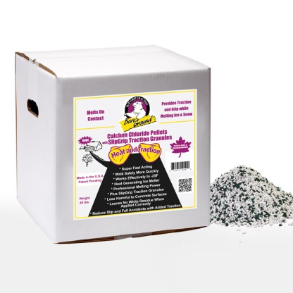 Bare Ground Calcium Chloride Pellets with Traction Granules - 40 LB Box