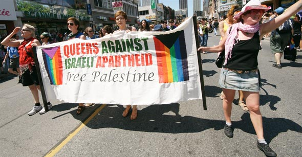 Gays protest the one and ONLY country in the Middle East that supports and protects gay rights, Israel
