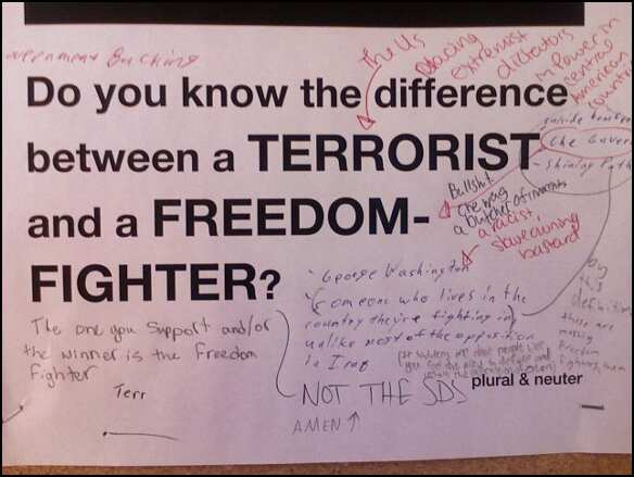 terrorist and freedom fighter