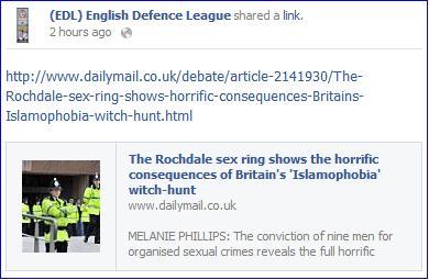 Blaming the rise of virulent Muslim paedophile sex gangs on 'Islamophobia'