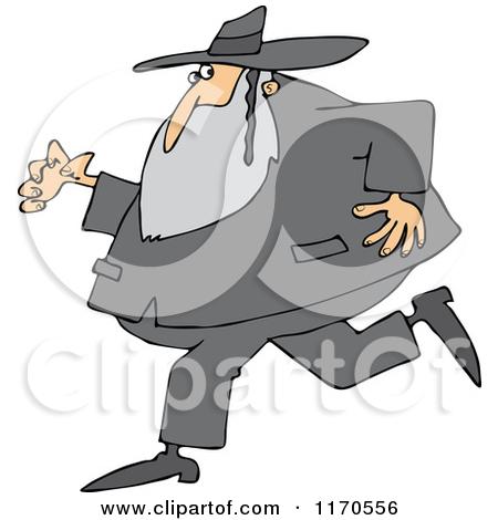 1170556-Cartoon-Of-A-Rabbi-Man-Running-And-Glancing-Back-Royalty-Free-Vector-Clipart