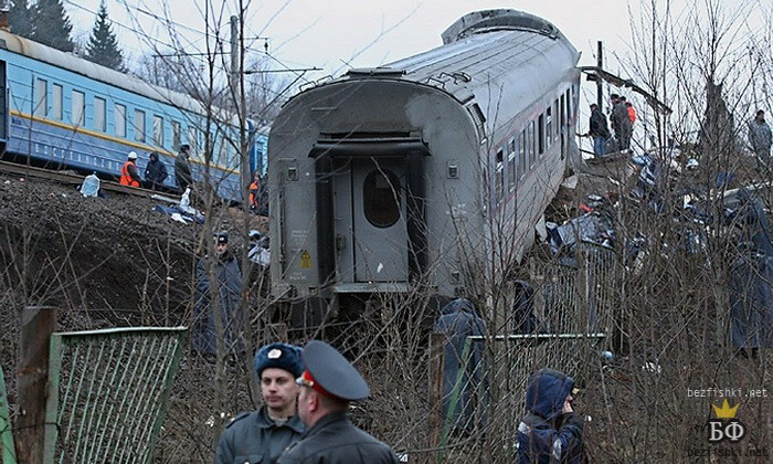 Moscow-St.Petersburg Express, derailed by Chehen Muslims using explosives - 26 people were killed