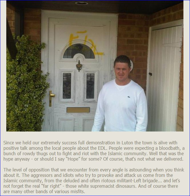 EDL-tommy-robinson-former-house-vandalized