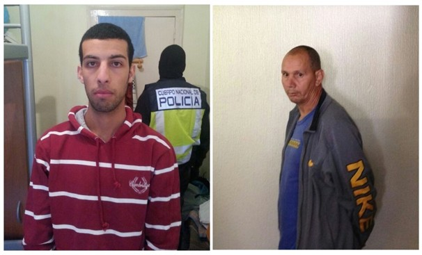 TERROR suspects identified as Nou Mediouni, left, and Hassan El Jaaouani