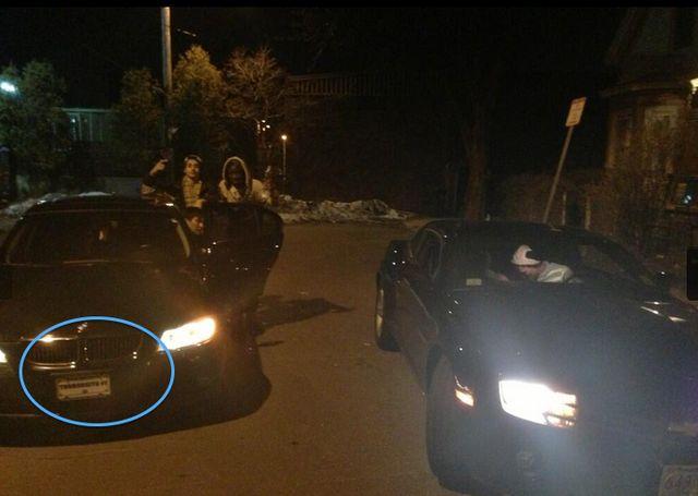 Kadyrbayev's car license plate reads 'TERRORISTA # 1':